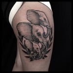 Three Elephants tattoo