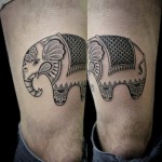 Tiny Circus Elephant tattoo