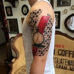 Trash Polka Shoulder Pocket Watch tattoo
