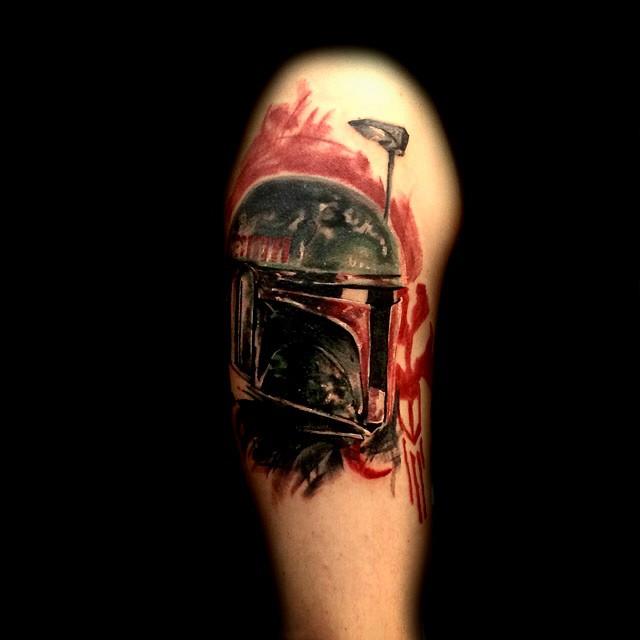 Star Wars tattoo Trash polka style