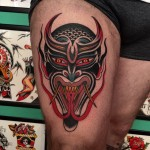 Twin Tongue Demon tattoo