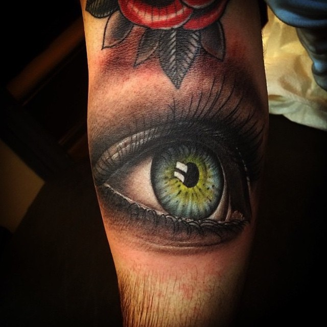 Unreal realistic eye tattoo on arm best tattoo ideas gallery for Eye tattoo art