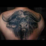 Wonderfull Angry Bull tattoo