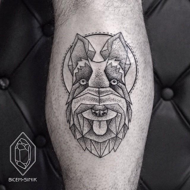 Scottish Terrier tattoo on Leg