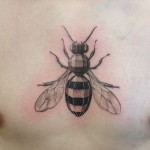 Angled Shape Wasp tattoo