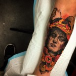 Arm New School Portrait Tattoo