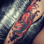 Arm Red Fox Tattoo