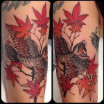 Autumn Sparrow Tattoo