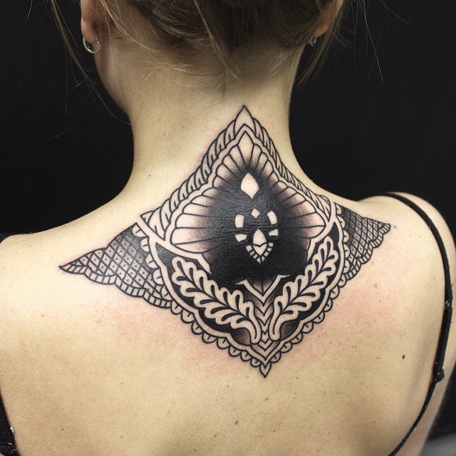 Awesome Cover Up Tattoo on Back