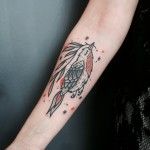 Bird Fly Tattoo on Arm