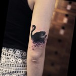 Black Swan Tattoo Watercolor