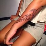 Blade of Grass Tattoo on Arm