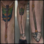 Broken Arrow Leg Tattoo