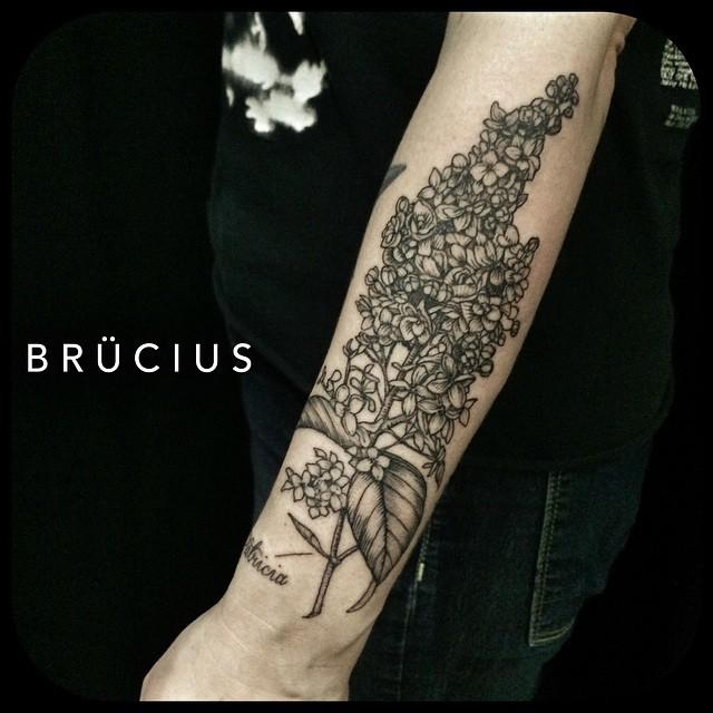 Brunch of Little Flowers Arm Tattoo