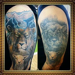 Christian Lion Shoulder tattoo