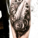 Clockwork Graphic Tattoo