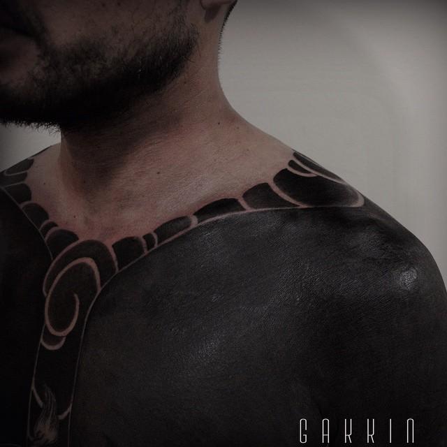 Completely Blackwork Full Body tattoo