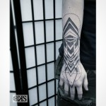 Cool Wrist Brace Geometry Tattoo
