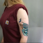 Cute Peacock Tattoo