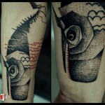 Dotwork Whale Tattoo on Arm