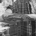 Dream Pike Fish Tattoo on Forearm