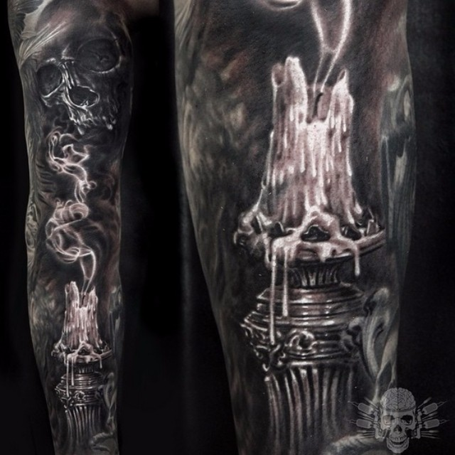 extinguished candle tattoo sleeve best tattoo ideas gallery. Black Bedroom Furniture Sets. Home Design Ideas