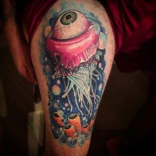 Eye Jellyfish Tattoo