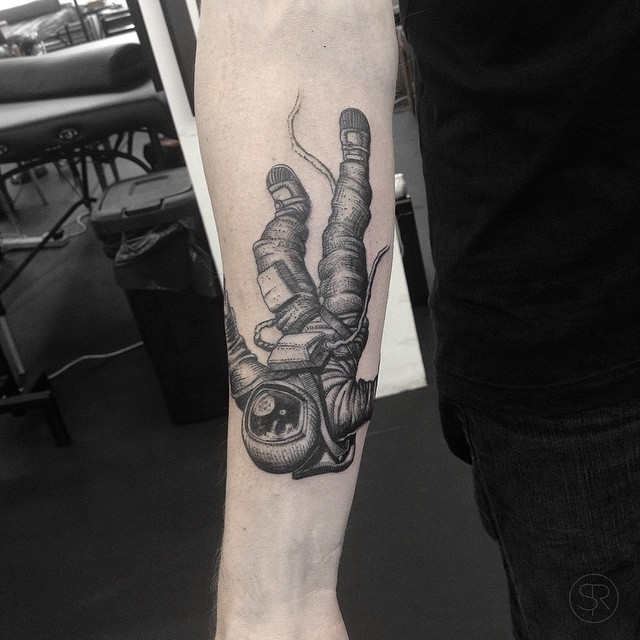 Falling Astronaut Tattoo