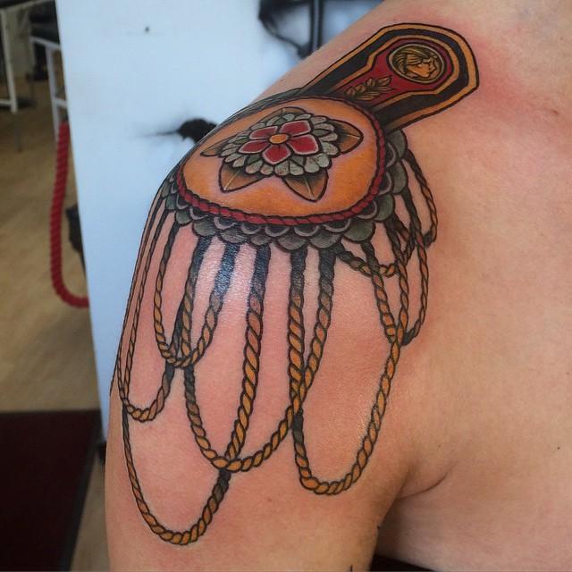 Funny Epaulette Tattoo