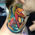 Funny Horse Neck Tattoo