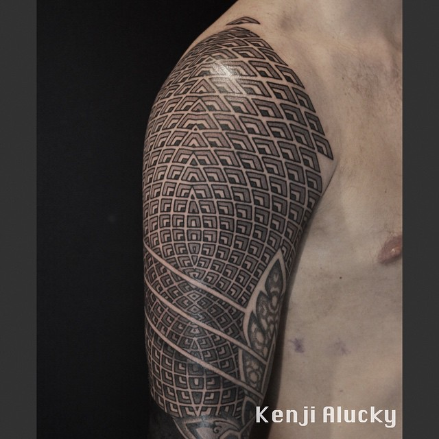 Geometry Pattern Shoulder Tattoo