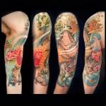 Japanese Armadillo Tattoo Sleeve