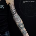 Mandalas Trees Composition Arm Tattoo