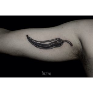 Pepper Tattoo on Arm