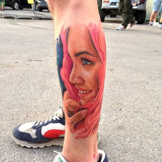 Pink Hoody Girl Tattoo