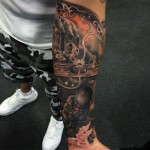 Poluted Generation Tattoo on Arm