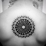 Saturated Dots Petals Tattoo on Back