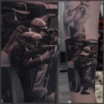 Shooting Gangsters Tattoo