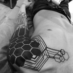 Shoulder Honeycomb Tattoo Sleeve