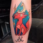 Space Coyote Tattoo