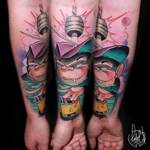 Stuttgart Monkey Tattoo on Arm
