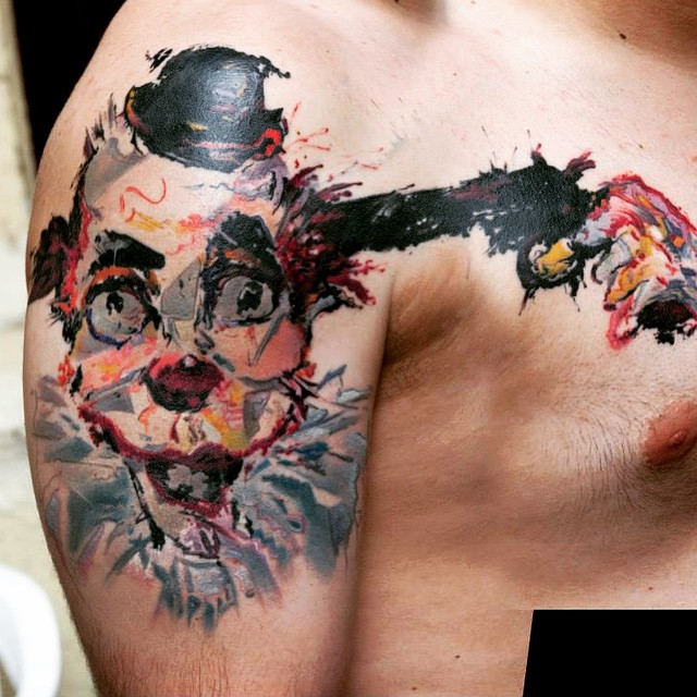 Suicide Clown Tattoo