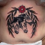 Three Scared Horses Tattoo