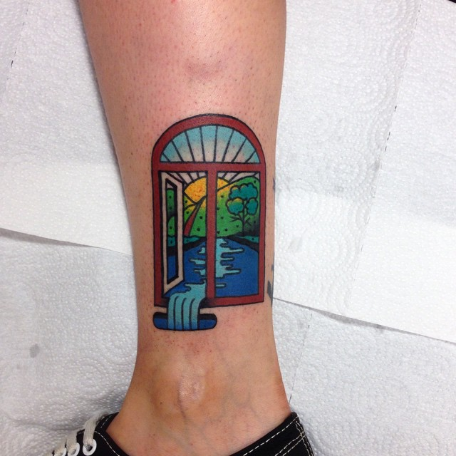 Water Through Window Tattoo