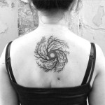 Whirlpool of Roots Back Tattoo