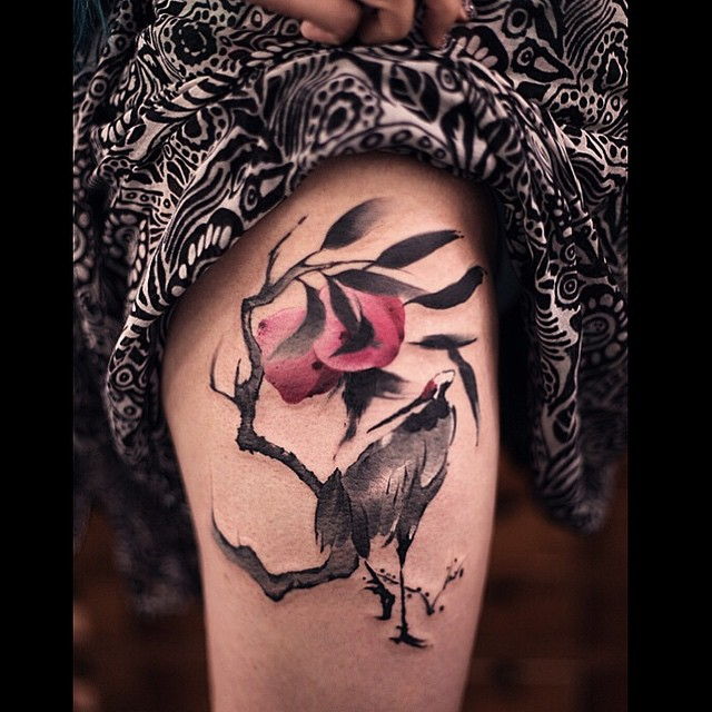 bird hip tattoos