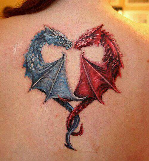 color tattoo dragon