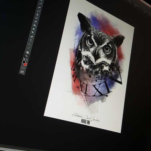 colorful owl tattoos2