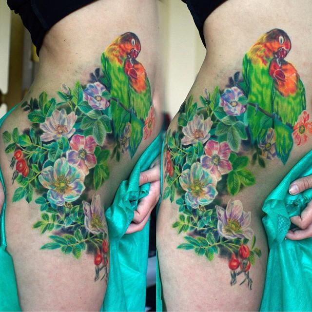 cute flower tattoos