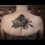 Flower back tattoos